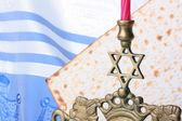 Jewish symbols — Stock Photo