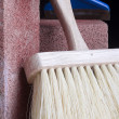 Stonemason's brush - Stock Photo