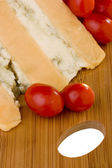 Gloucester with Cheese blue and tomato — Stock Photo