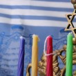 Menorah candles — Stock Photo
