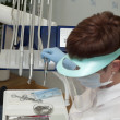 Stockfoto: In cabin dentist.
