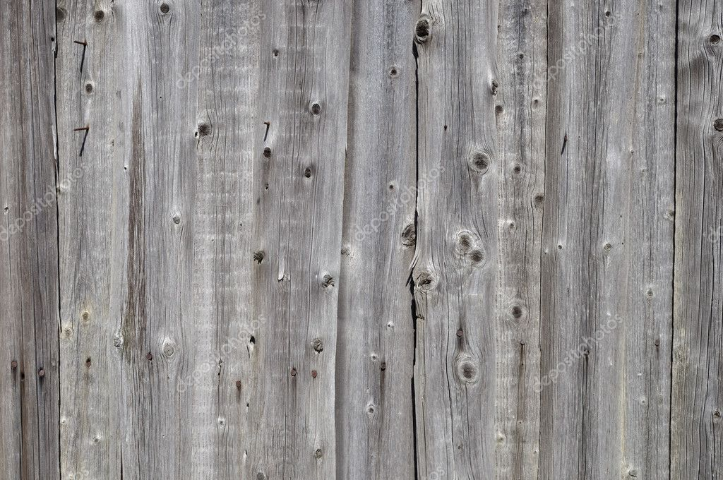 Rustic Gray Wooden Boards Background Stock Photo