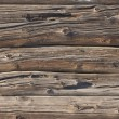 Weathered log wall background — Stock Photo