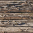 Weathered log wall background - Stock Photo