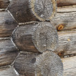 Corner of old log wall — Stock Photo