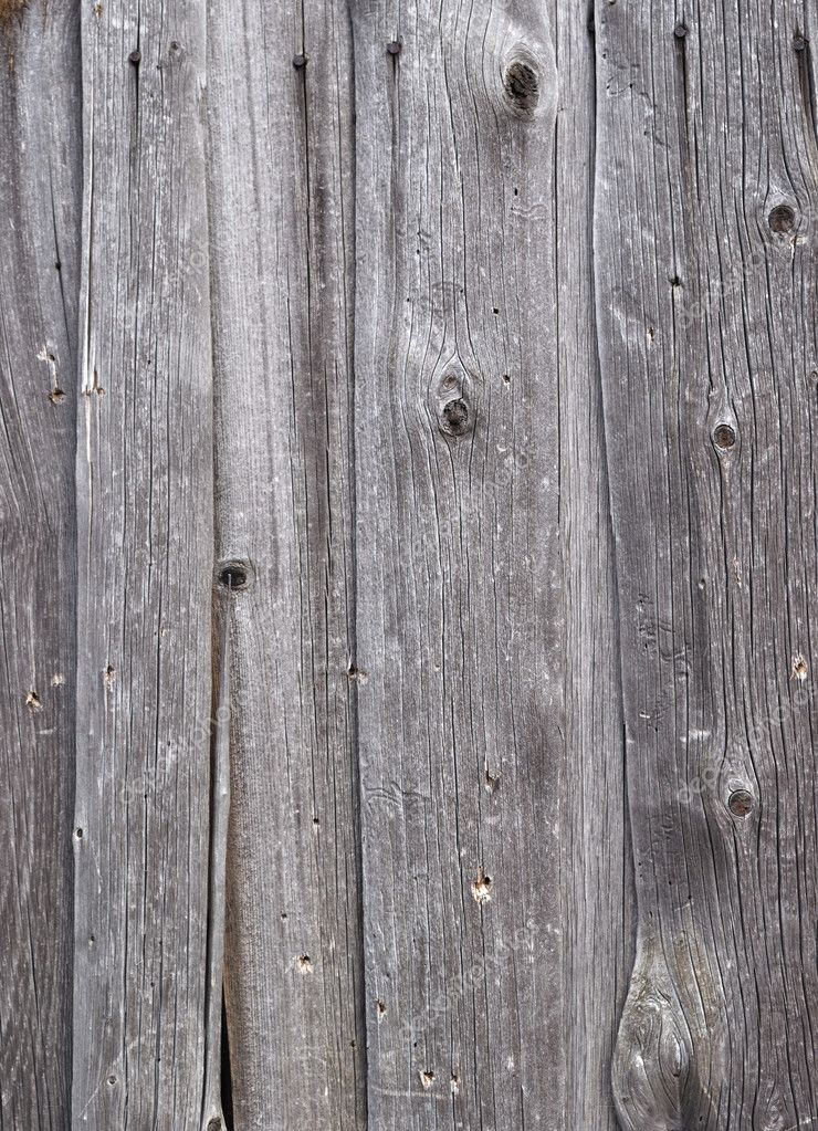 Close up of natural weathered gray wooden boards background  Stock Photo #2845885