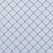 Stock Photo: Wire netting on snow background