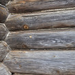 Corner of old wooden house — Stock Photo