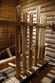 Water mill inside — Foto Stock