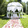Wedding tent - Stock Photo