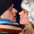 Stock Photo: winter couple