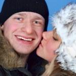 Winter couple — Stock Photo