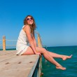 Sitting alone on the pier — Stock Photo #3203301