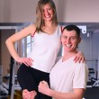 Couple in gym — Stock Photo #3203418