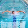 Stock Photo: Butterfly stroke