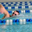 Man swims using the crawl — Stock Photo #3203505