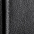 Black leather with seam — Stock Photo