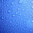 Blue water drops on glass — Stock Photo #3203667