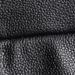 Black leather with seam - Stock Photo