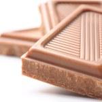 Three chocolate bars isolated on white — Stock Photo