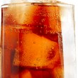 Glass with cola and ice — Stock Photo