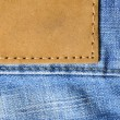 jeans label — Stock Photo