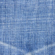Highly detailed blue jeans texture — Stock Photo