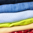 Stack of multicolored men's clothing — Foto de Stock