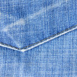 Highly detailed jeans texture — Stock Photo