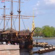 Frigate near Peter and Paul cathedral — Lizenzfreies Foto
