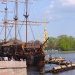 Frigate near Peter and Paul cathedral - Stockfoto
