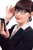 Shocked businesswoman — Stock Photo