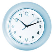Blue clock with running second hand — Stock Photo