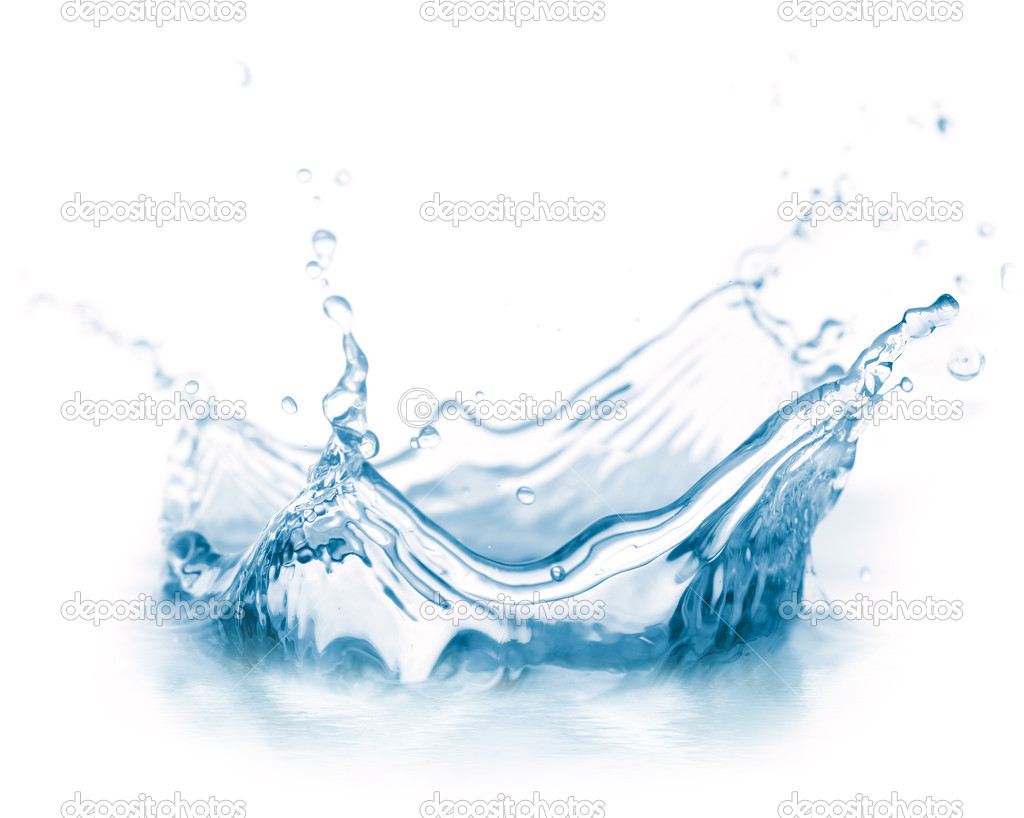 Water splash isolated on white — Stock Photo #3203995
