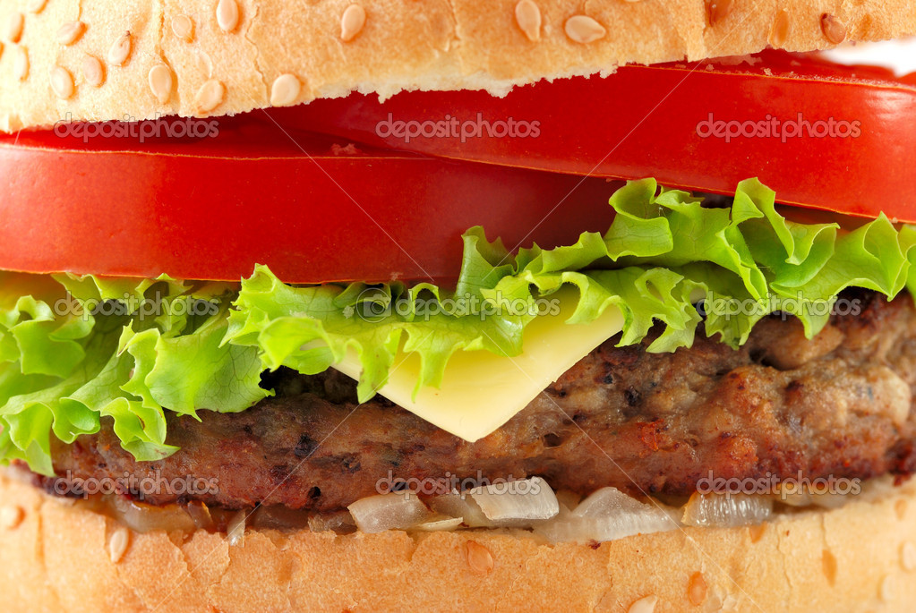 Cheeseburger closeup — Stock Photo #3204183