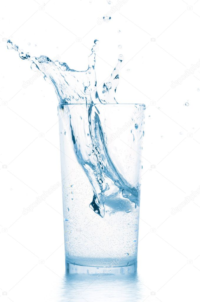 Splash in water glass — Stock Photo #3204286