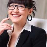 Beautiful businesswoman wearing glasses — Stock Photo