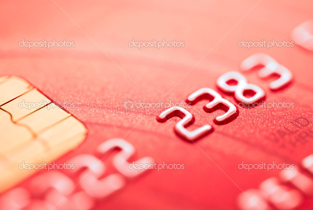 Red credit card — Stock Photo #3273462