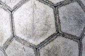 Closeup of an old football ball — Stock Photo
