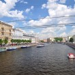 Fontanka canal, Saint-Petersburg, Russia — Stock Photo