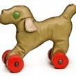 Vintage toy dog - Stock Photo