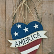 Vintage wooden patriotic decor — Stock Photo