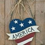Vintage wooden patriotic decor — Stock Photo