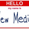 Name new media — Stock Photo