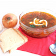 Ukrainian-russian borscht — Stock Photo