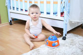 Baby playing at home — Stock Photo