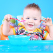 Stock Photo: Child dines