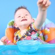 Child dines — Stock Photo