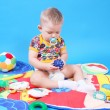Stock Photo: Child playing toys