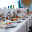 Food at a wedding or catering event — Stock Photo